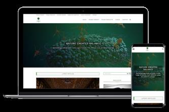 Creative Direction.one web development service bacteriophage.news desktop mobile web view